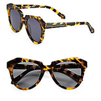 Karen Walker - Number One Tortoise Acetate Cat's-Eye Sunglasses - Saks Fifth Avenue Mobile