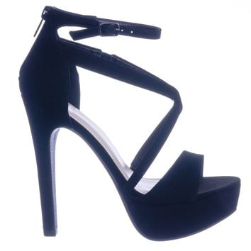 Airbag High Heel Platform Open Toe Strappy Dress Sandal