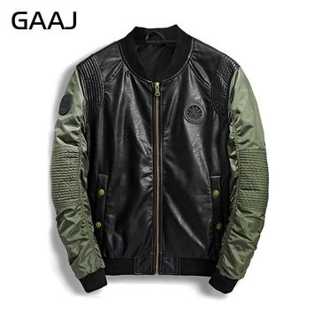 Trendy 2018 Spring Summer Military Bomber Jacket Men Camo Streetwear Leather Denim Camouflage Army Biker Jackets Pilot For Men's Coat AT_94_13