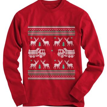 Truck Driver Ugly Christmas Sweater