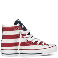 Converse - Chuck Taylor Stars and Bars - Hi - White/Red