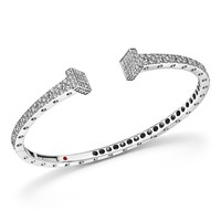 Roberto Coin18K White Gold Pois Moi Chiodo Diamond Bangle - 100% Exclusive