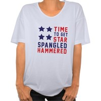 Star Spangled Hammered - Womens Oversized T-Shirt