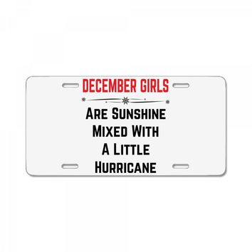 December Girls License Plate