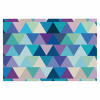 "Draper ""Crystal"" Purple Geometric Decorative Door Mat"
