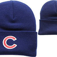 Chicago Cubs Navy Blue Cuffed Knit Cap