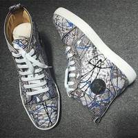 Cl Christian Louboutin Python Style #2262 Sneakers Fashion Shoes - Best Deal Online