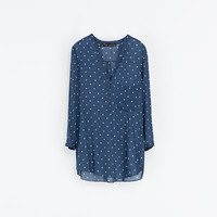 POLKA DOT PRINTED BLOUSE - Shirts - Woman | ZARA United Kingdom