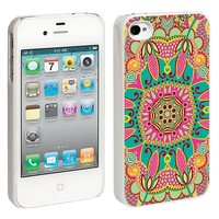 Brilliant Tribal iPhone 4/4S Hard Shell Case - White