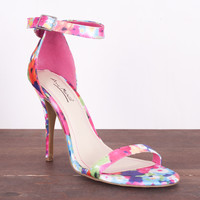 Floral Frenzy Heel Fuchsia *Size 10 Only*