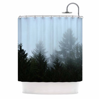 "Robin Dickinson ""Welcome to Earth"" Mist Forest Shower Curtain"