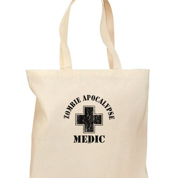 Zombie Apocalypse Group Role Medic Grocery Tote Bag