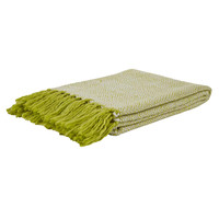 Hurley Lime Green Knit Throw Blanket