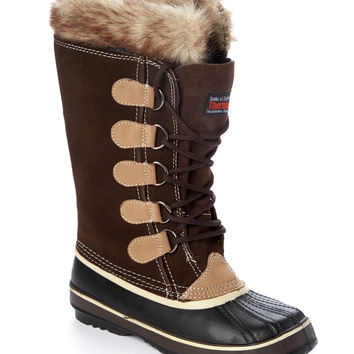 Brown & Tan Fleece-Lined Duck Boot