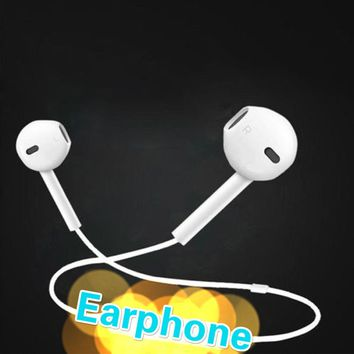 1PCS Headset Earphone With Mic Volume Adjustable For Apple iPhone