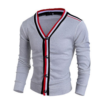 Mens Fashionable Cardigan Sweater