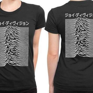 CREYP7V Joy Division Unknown Pleasure Mandarin Words 2 Sided Womens T Shirt
