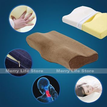 Cool 60cm 24inch Big Bed Memory Foam Pillow and Cover with Zipper Ergonomic for Neck Pain Back Side Sleeper Anti Snoring Queen SizeAT_93_12