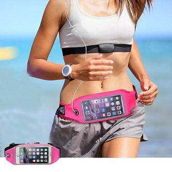 Waterproof Sport Accessories Phone bag mobile Phone Gym Waist Bag Running Wallet Phone Pouch For iphone 7 6S Plus Samsung Xiaomi
