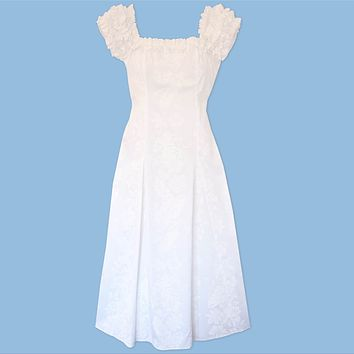 makamae white hawaiian leilani dress