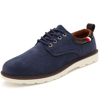 Korean Round-toe England Style Low-cut Casual Men's Shoes = 6450692355