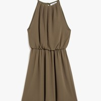 Tori Pleat Neck Dress