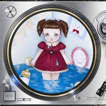 Cry Baby 12 inch  Slip mat Turntable Vinyl decor Record collection DJ audiophile 16 ounce Slipmat x1