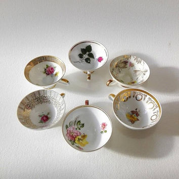 Set of 6, Germany floral cups, Winterling, collectibles, germany porcelain, porcelain cups, vintage coffee cups, tea cup, germany vintage