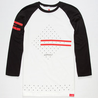 Asphalt Yacht Club Nyjah Huston Diamond Mens Reflective Baseball Tee White  In Sizes