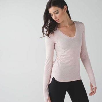 Circadian Long Sleeve V Neck Tee
