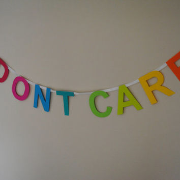 I Dont Care - Paper Banner