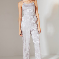 UO Lily Jacquard Lace-Up Jumpsuit | Urban Outfitters
