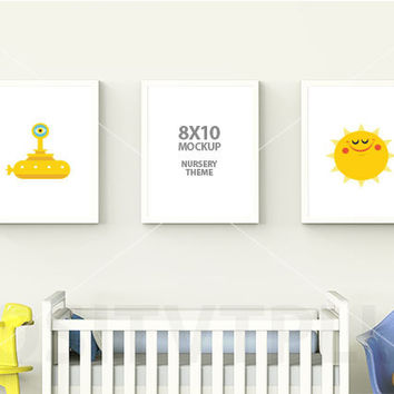 8x10 mockup frame mockup nursery from positvtplus on etsy. Black Bedroom Furniture Sets. Home Design Ideas