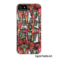 triangles, whimsical iPhone 5 Case, Abstract Art, iPhone cases, by Ingrid Padilla, iPhone 5S case