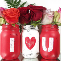 I LOVE YOU, Mason Jar Set