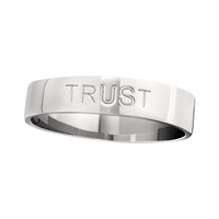 LOVE, HOPE, TRUST Ring from the EMOTION Collection, Sterling Silver