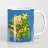 Turtle Burger Mug by Artistic Dyslexia | Society6