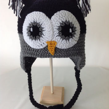 Baby Owl Hat - Baby Girl Owl Hat - Baby Girl Hat - Crochet Owl Hat - Newborn Owl Hat - Infant Owl Hat - Baby Animal Hat