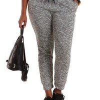 Plus Size Marled French Terry Jogger Pants