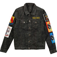 Guns N Roses Men's  Cross Denim Jacket Denim Jacket Denim