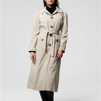 Sophia Long Raincoat with Detachable Hood & Liner