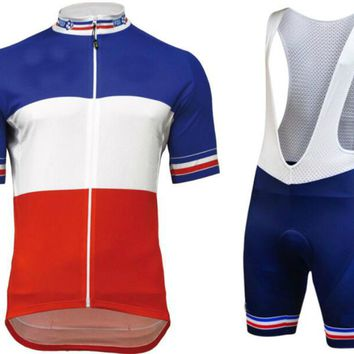 2018 FRENCH CHAMPION cycling jersey team clothing quick dry bib shorts set with cycle summer bicycle wear breathable Full Kits