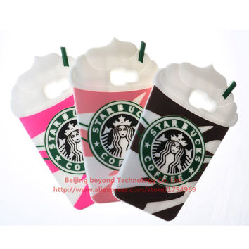 Starbucks Cup Phone Silicone soft Case For Samsung Galaxy Cases Gel Shell