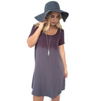 Satellite Ombré Dress in Plum