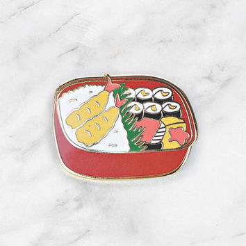 Bento Box Enamel Pin
