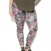 Camouflage Floral Print Legging - WetSeal