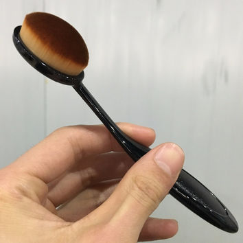 2016 Hot Professional Beauty make up maquiagem brush Toothbrush shape foundation brushes Super-soft fiber hair makeup brush S455