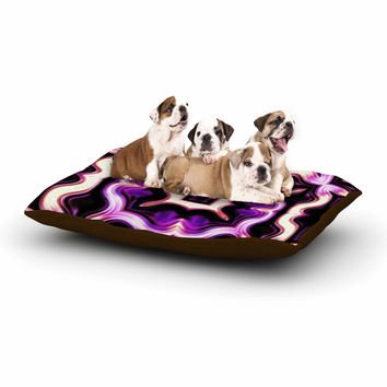 "Dawid Roc ""Vintage Flower Pattern 2"" Purple Floral Dog Bed"