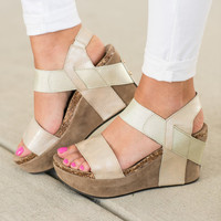 Keep It Going Wedges, Gold