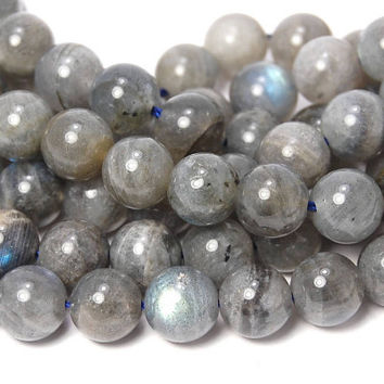 Gray LABRADORITE 8mm Gemstone Beads, -15 inch strand